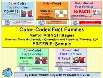 Fact Families Mental Math FREEBIE Sample
