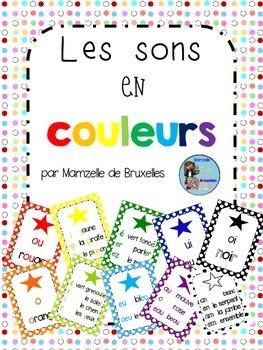 Color-Coded French Sounds Posters / Affiches Des Sons Français Avec Code Couleur