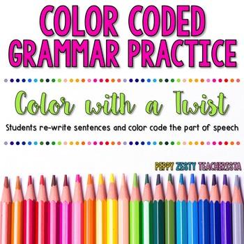 Color Coded Grammar Sentences