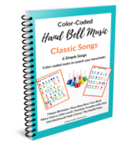 Color-Coded Hand Bell Song Sheets- Classics