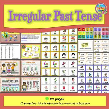 Irregular Verbs - {Word Cards}