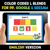 Color Coded L Blends Word Work for Google and Seesaw - Dis