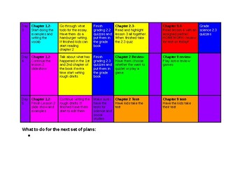 Color Coded Lesson Plan FREE