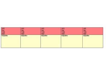 Color Coded Lesson Plan Template