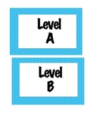 Color Coded Leveled Book Labels (Fiction and Non Fiction A-Z)
