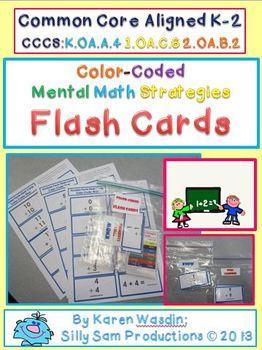 Mental Math Addition Strategies Flash Cards