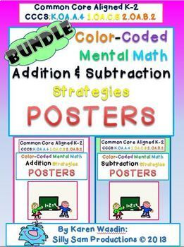 Mental Math Strategy Posters BUNDLE Addition Subtraction!