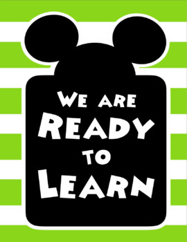 Color Coded Mickey Mouse Clubhouse Inspired EDITABLE Behavior Clip Chart