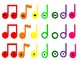 Boomwhacker Notes-Color Coded Music Notation-Pitch, Solfege, and Colors Only