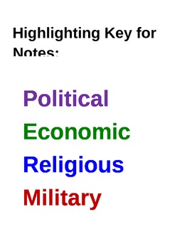 Color Coded Note Highlighting Based on PERMS