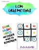 Color-Coded Notes & Practice: Least Common Multiple using the Grid Method