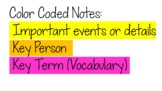 Color Coded Notes Printable Guide