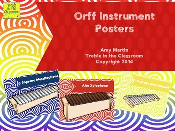 Color Coded Orff Instrument Posters