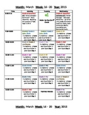 Color Coded Plan Book