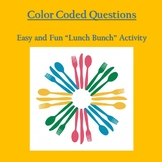 Color Coded Questions - Lunch Bunch Activity