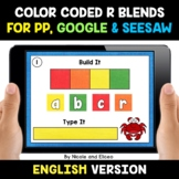Color Coded R Blends Word Work for Google and Seesaw - Dis