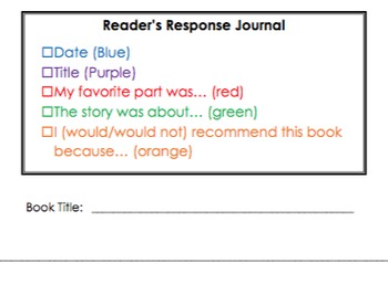 Color Coded Reader's Response
