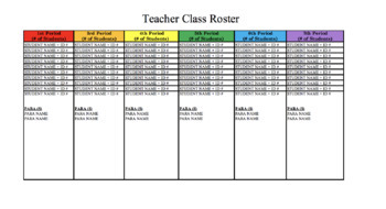 Color Coded Rotation Schedules