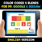 Color Coded S Blends Word Work for Google and Seesaw - Dis