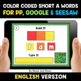 Color Coded Short A Word Work for Google and Seesaw - Dist