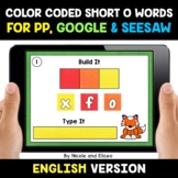 Color Coded Short O Word Work for Google and Seesaw - Dist