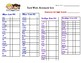 Color Coded Sight Word Lists