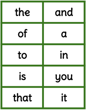 Color Coded Sight Words - Version 3.0 (Most Common Words 1-300)