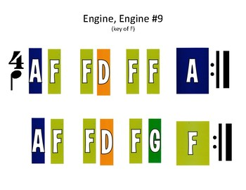 Color-Coded Songs - Engine, Engine # 9