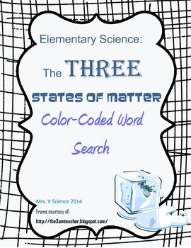 Color-Coded THREE States of Matter (Elementary)--Student Choice