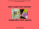 Color Coded Task Schedule for Children with Autism