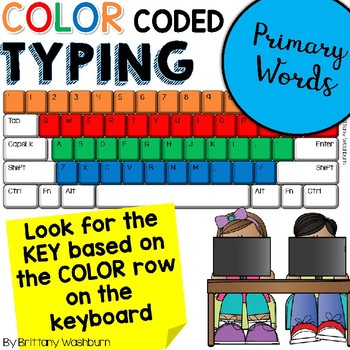 Color Coded Keyboarding - Typing Primary Words