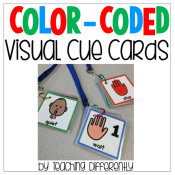 photo regarding Visual Cue Cards Printable named Shade Coded Visible Cue Playing cards
