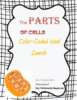 Color-Coded Word Search: Cell Parts