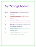 Color Coded Writing Checklist