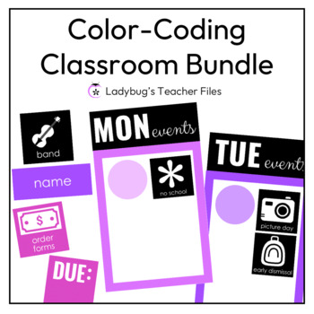 Color Coding Classroom Decor Bundle