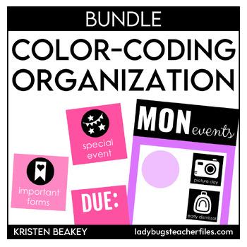Color Coding Classroom Decor Bundle
