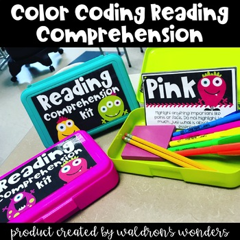 Color Coding Comprehension! (Monster Theme)