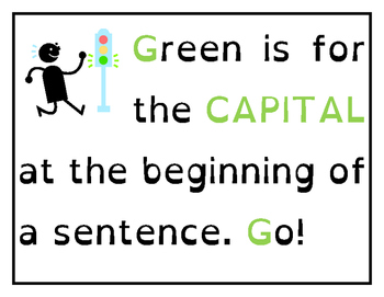 Color Coding Conventions for Sentences - Posters