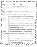 Color Coding Summary Activity