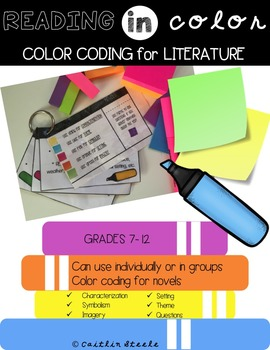 Color Coding with Post-Its: Literature Circles & Independent Reading