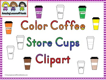 Color Coffee Store Cups