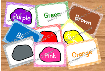 Color & Color Word Flash Cards