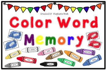 Color/ Color Word Memory