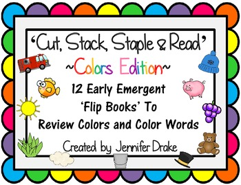 Color Word Flip Books