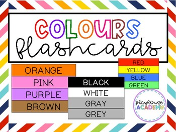 Colours / Colors Flashcards for Classroom