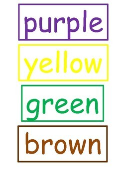 Color Colors Word Puzzles *color and blackline copies included