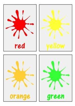 Color / Colour Flash Cards