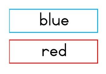 Color/Colour Flash Cards