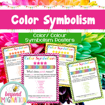 Color/ Colour Symbolism Posters Includes US and UK Spelling