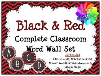 Color Combos Collection: Black & Red Complete Classroom Wo